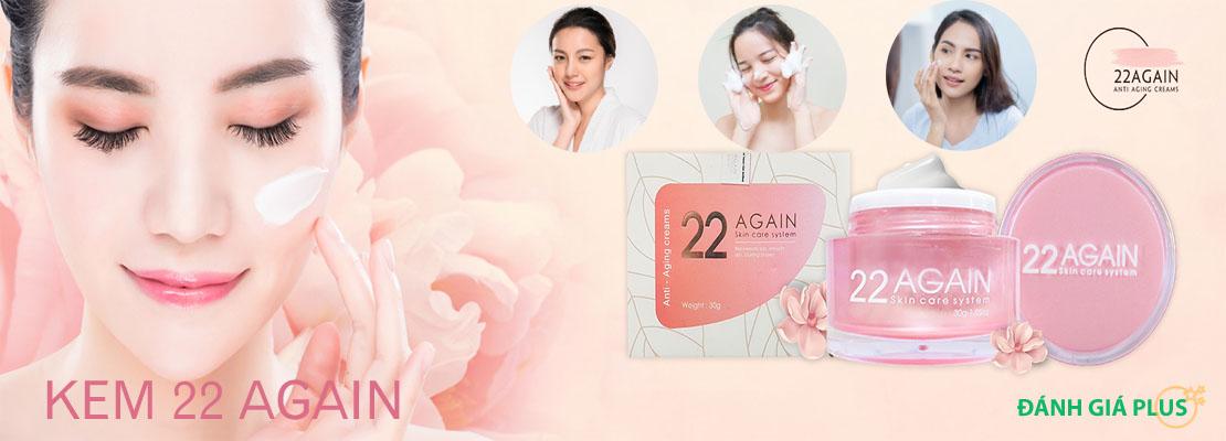 Review chi tiết kem 22 Again giúp chống lão hóa da từ Hàn Quốc